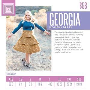NWT LuLaRoe Georgia Dress size small